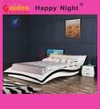 French Modern Plywood Double Bed Designs G1077
