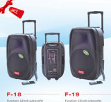 Rechargeable Battery Speaker Box with USB/SD Bluetooth Wireless Microphones F-19