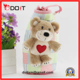 Red Heart Love Teddy Bear Can Cooler