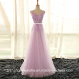 Lace Embroidery Long Prom Dresses Formal Evening Party Dresses