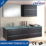 Modern Wall Mounted Melamine Glass Basin Hotel Bathroom Vanity