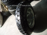 10′′ Solid Rubber Machinery Wheel with Cast Iron Rim
