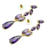 High Quality Crystal Drop Earrings (FQ-1001)