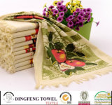 Professional Cotton Printed Cafe Towels Set Df-1975