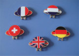 Soft Enamel Country Flag Magnetic Ball Marker and Hat Clip