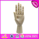 New Product Wooden Artist Hand Model, Flexible Manikin Wooden Hand Model, High Quality Wooden Hand Model W06D042-a