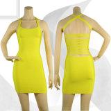 Lemon Yellow Summer Slip Backless Skirt