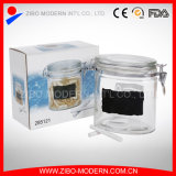 Sealed Glass Storage Jar with Metal Clip Lid Top Wholesale