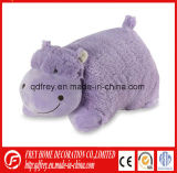 Ce Stuffed Hippo Animal Pillow for Promotional Gift