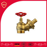 "Brass 1.5"" Oblique Fire Landing Valve with Hose Coupling Thread Fire Valve"