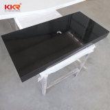 Kkr Factory Price Artificial Stone Black Quartz Kitchen Countertop