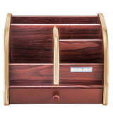 Large Capacity Wooden Stationery Storage Holder with Drawer