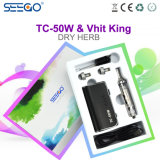 Stylish Seego Tc-50W Battery & Vhit King Kit Chamber Vaporizer Dry Herb Tank