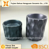 Large Size Cylindrical Design Emblema Ceramic Candle Holder