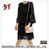 Hot Saling Popular Fashion Lace Hollow Sexy Lady Dress