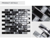 New Designed Wholesale Indoor Glossy Black Glazed Glass Mosaic Tile