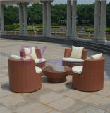 Outdoor Garden Balcony Comfortable Stacked PE Rattan Table and Chair