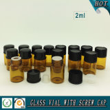 5/8 DRAM 2ml Amber Essential Oil Glass Vial with Orifice Reducer