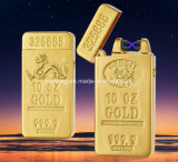 Gold Bullion Double Arc Electronic Pulse Lighter