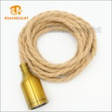 Good Quality Vinttage Hemp Rope Cord Set with Lamp Holder