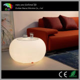 LED Cafe Furniture/LED Glass Coffee Table for Outdoor