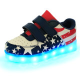 The Most Popular Magic Stickers LED Shoes Kids LED Light up Shoes in Star