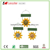 Handpainted Metal Sunflower Windchime for Garden and Tree Decoration
