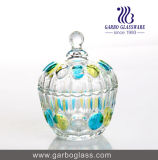 Glass Storage Jar/Candy Jar/Suger Chocolate Pot (GB1812YD)