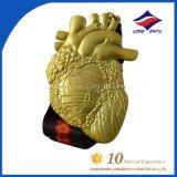 Shiny Metal Gold Medal Heart Shape Marathon Gold Medal Manufacturer