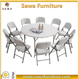 2017 White Cheap Portable Round Plastic Table Wholesale