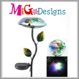 Promotional Crafts Metal Garden Stake Mushroom Shaped Solar Light