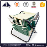 7 Piece E Garden Tool Set, Heavy Duty Folding Stool, Detachable Canvas Tool Bag and Heavy Duty Steel Tools