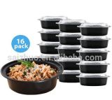 Simple Round Soup Bowl with Plastic Cover Disposable Fast Food Lunch Bowl 1000ml