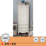 Wooden Furnituer-White Wardrobe with Drawer