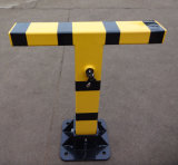 T Shape Manual Handle Parking Barrier Lock Parking Position Lock with Reflective Tape
