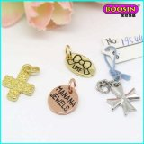 Manufacturer Cheap Custom Alloy Logo Tag Charm for Jewelry