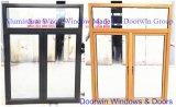High Class Teak Wood Aluminium Window, Durable Imported Solid Teak Wood Window with Aluminum Alloy Clading