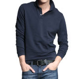 2016 Hot Sale Boy's Black Leisure Long Sleeve Polo Shirt
