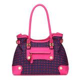 Yarn-Dyed Fabric Patchwork Designer Women Shoulder Handbag (MBNO035070)