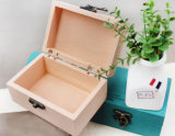 Pine Wooden Box for Craft, Jewelry, Tea, Exhibition