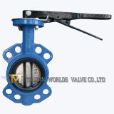Lever Operated Rubber Seat Cast Iron Wafer Butterfly Valve (D71X-10/16)
