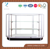 Front Access Corner Display Case with Adjustable Shelf
