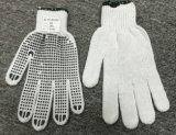 Industrial Safety Knitted Dotted White Cotton Hand Work Gloves for Wholesale Ship (SJIE1002)