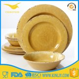 Yellow Design Melamine Plastic Bowl Plate Plates Dinnerware Tableware Set