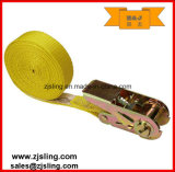 "1"" X 20′ Polyester Yellow Endless Ratchet Strap (customized)"