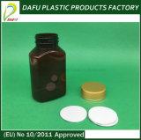 160ml Rectangular Amber Pet Medicine Capsule Bottle