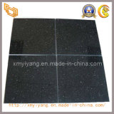 Natural Polished Pure Black Marble Tiles for Flooring/Wall (YQC)