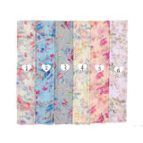New Women Polyester Rayon Star Printed Voile Viscose Fashion Scarf Bls01