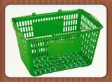 Low Price Plastic Supermarket Shopping Baskets with Metal Handles