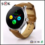 K88h Leather Watch Strap Bluetooth Smart Watch for Android and Ios Phones IP54 Ogs Screen